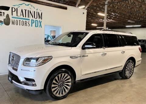2019 Lincoln Navigator L for sale at Platinum Motors in Portland OR