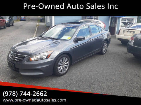 2011 Honda Accord for sale at Pre-Owned Auto Sales Inc in Salem MA