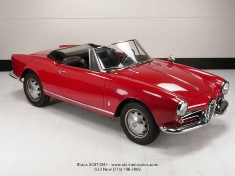 1961 Alfa Romeo Giulietta for sale at Sierra Classics & Imports in Reno NV