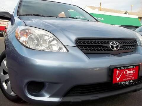 2007 Toyota Matrix for sale at 1st Choice Auto Sales in Fairfax VA