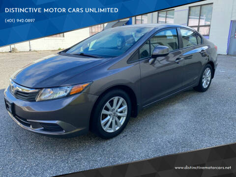 2012 Honda Civic for sale at DISTINCTIVE MOTOR CARS UNLIMITED in Johnston RI
