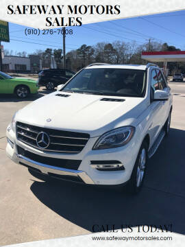 2013 Mercedes-Benz M-Class for sale at Safeway Motors Sales in Laurinburg NC