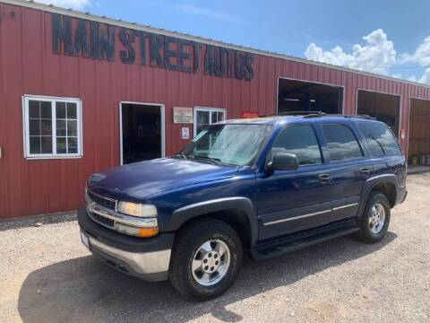 2002 Chevrolet Tahoe for sale at Main Street Autos Sales and Service LLC in Whitehouse TX