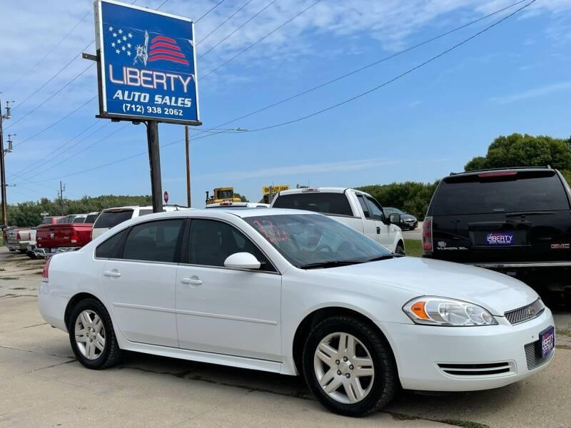 2012 Chevrolet Impala for sale at Liberty Auto Sales in Merrill IA