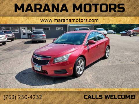 2012 Chevrolet Cruze for sale at Marana Motors in Princeton MN