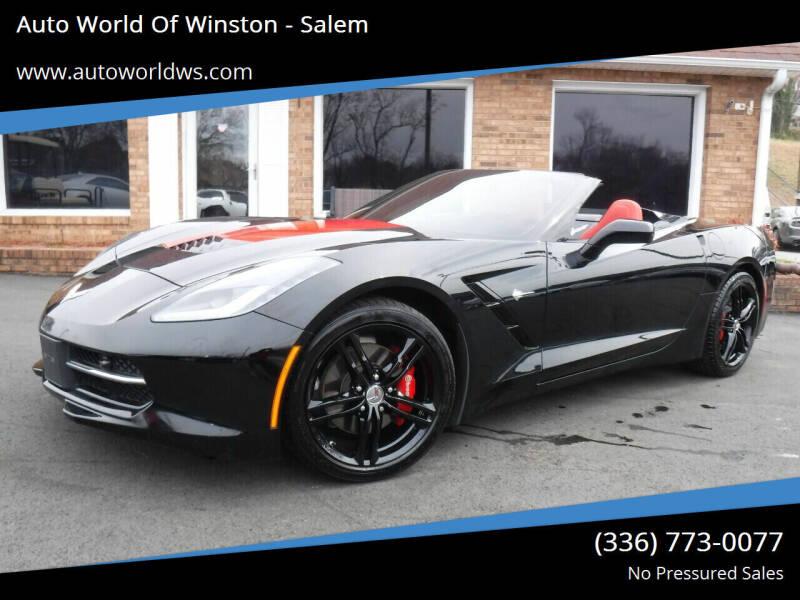 2016 Chevrolet Corvette for sale at Auto World Of Winston - Salem in Winston Salem NC
