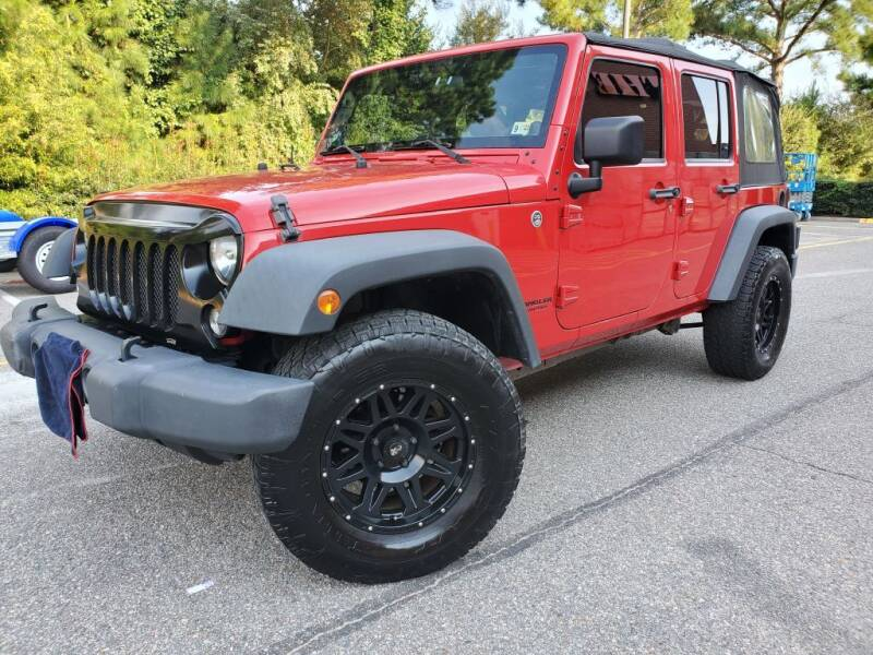 2014 Jeep Wrangler Unlimited for sale at TM AUTO WHOLESALERS LLC in Chesapeake VA
