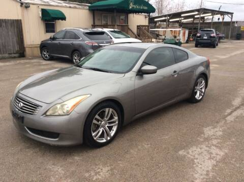 2009 Infiniti G37 Coupe for sale at OASIS PARK & SELL in Spring TX
