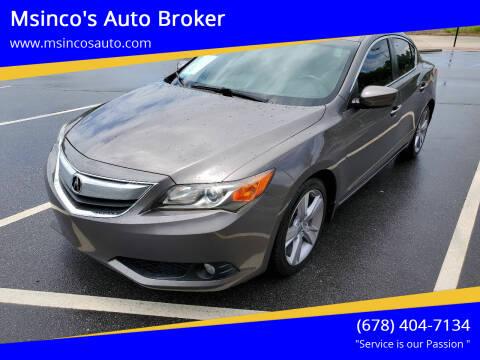2013 Acura ILX for sale at Msinco's Auto Broker in Snellville GA