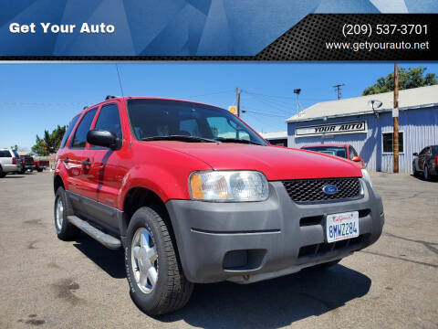2001 Ford Escape for sale at Get Your Auto in Ceres CA