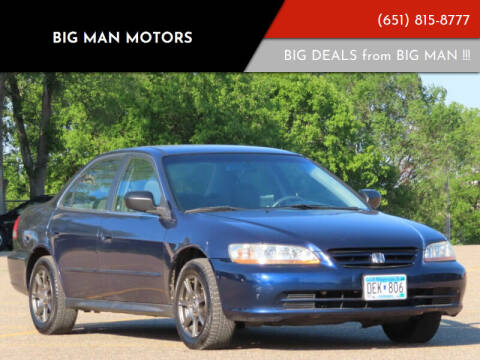 2002 Honda Accord for sale at Big Man Motors in Farmington MN