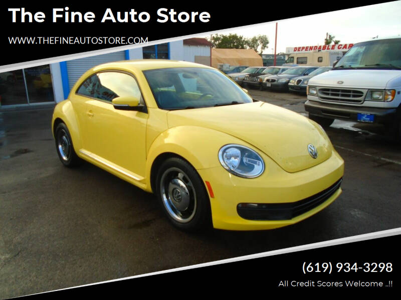 2012 Volkswagen Beetle for sale at The Fine Auto Store in Imperial Beach CA
