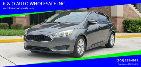 2015 Ford Focus for sale at K & O AUTO WHOLESALE INC in Jacksonville FL