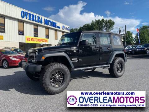 2015 Jeep Wrangler Unlimited for sale at Overlea Motors in Baltimore MD