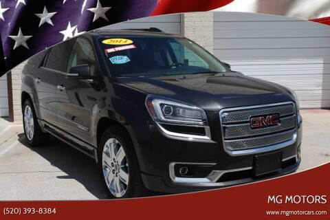 2014 GMC Acadia for sale at MG Motors in Tucson AZ