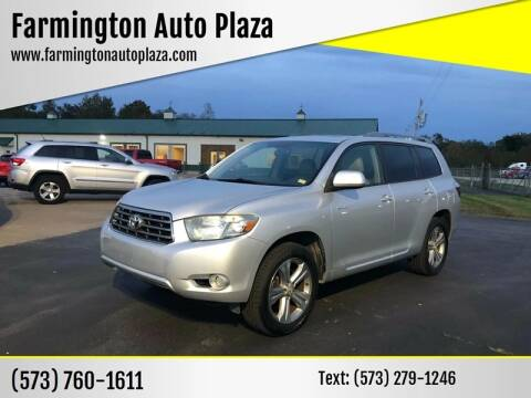 2008 Toyota Highlander for sale at Farmington Auto Plaza in Farmington MO
