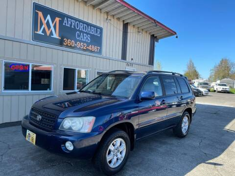 2003 Toyota Highlander for sale at M & A Affordable Cars in Vancouver WA