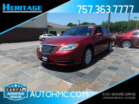 2014 Chrysler 200 for sale at Heritage Motor Company in Virginia Beach VA