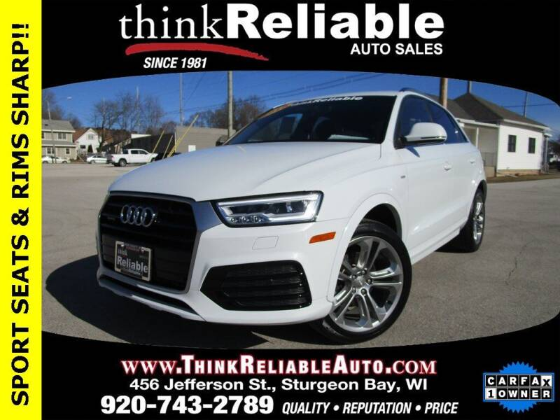2018 Audi Q3 for sale at RELIABLE AUTOMOBILE SALES, INC in Sturgeon Bay WI