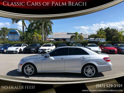 2012 Mercedes-Benz E-Class for sale at Classic Cars of Palm Beach in Jupiter FL