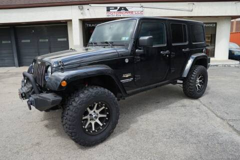 2012 Jeep Wrangler Unlimited for sale at PA Motorcars in Conshohocken PA