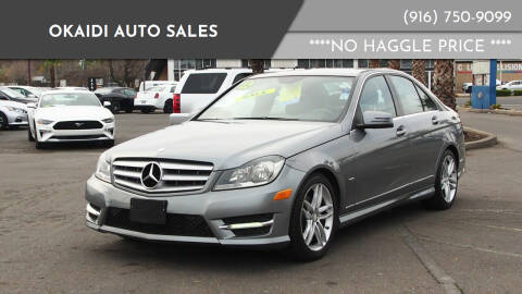 2012 Mercedes-Benz C-Class for sale at Okaidi Auto Sales in Sacramento CA