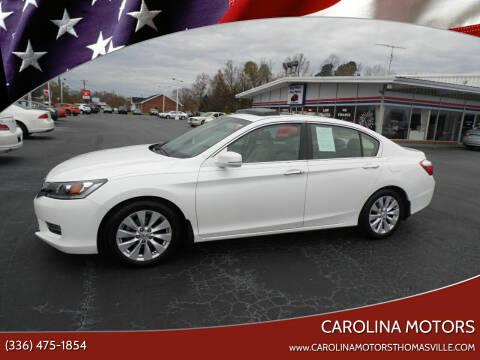 2013 Honda Accord for sale at CAROLINA MOTORS in Thomasville NC
