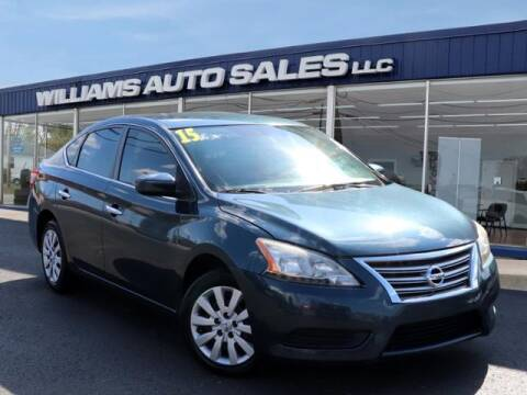2015 Nissan Sentra for sale at Williams Auto Sales, LLC in Cookeville TN