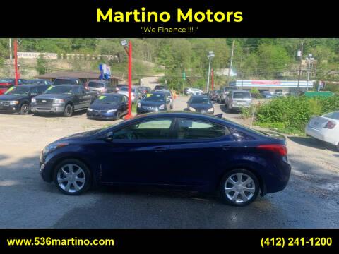 2013 Hyundai Elantra for sale at Martino Motors in Pittsburgh PA