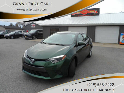 2015 Toyota Corolla for sale at Grand Prize Cars in Cedar Lake IN