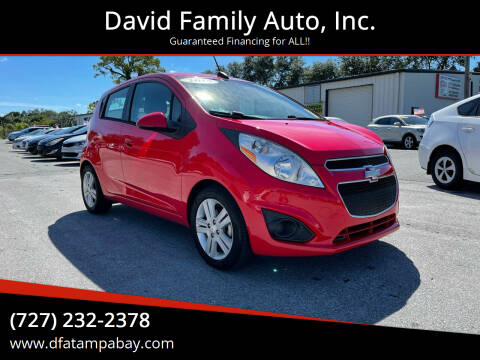 2015 Chevrolet Spark for sale at David Family Auto, Inc. in New Port Richey FL