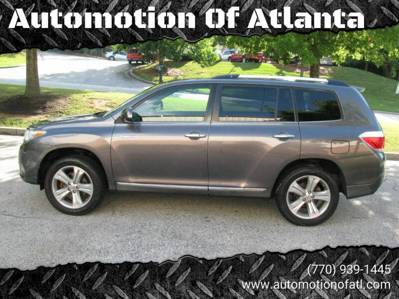 2013 Toyota Highlander for sale at Automotion Of Atlanta in Conyers GA
