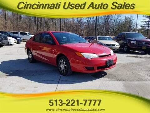 2005 Saturn Ion for sale at Cincinnati Used Auto Sales in Cincinnati OH