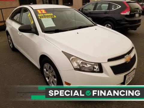 2012 Chevrolet Cruze for sale at Super Cars Sales Inc #1 - Super Auto Sales Inc #2 in Modesto CA