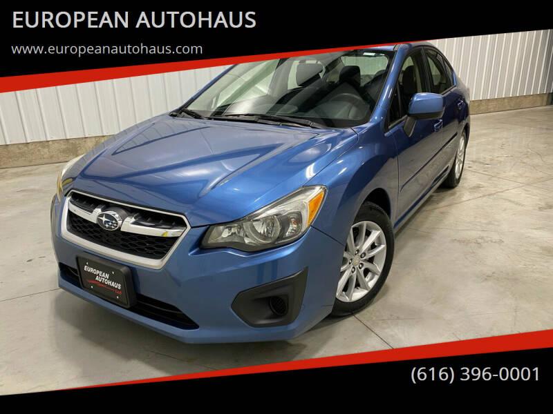 2014 Subaru Impreza for sale at EUROPEAN AUTOHAUS in Holland MI