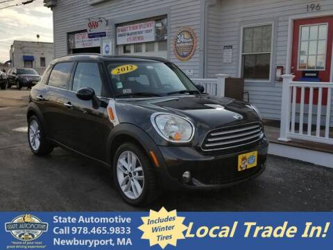 2012 MINI Cooper Countryman for sale at State Automotive Sales in Newburyport MA