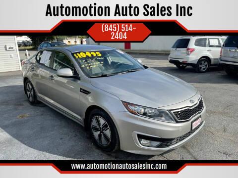 2012 Kia Optima Hybrid for sale at Automotion Auto Sales Inc in Kingston NY