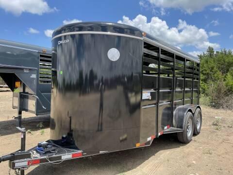 "2021 DELCO  - Livestock 16' x 6' 8""  for sale at LJD Sales in Lampasas TX"