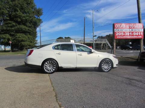 2013 Lincoln MKS for sale at Colvin Auto Sales in Tuscaloosa AL