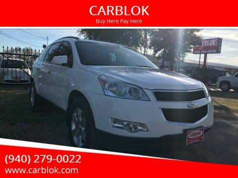 2012 Chevrolet Traverse for sale at CARBLOK in Lewisville TX
