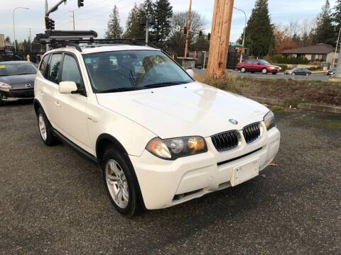 2006 BMW X3 for sale at KARMA AUTO SALES in Federal Way WA