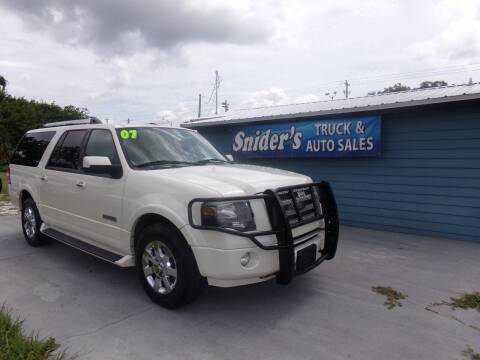 2007 Ford Expedition EL for sale at Snider's Auto Center in Titusville FL