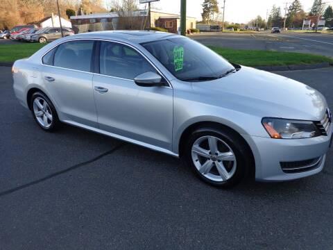 2012 Volkswagen Passat for sale at BETTER BUYS AUTO INC in East Windsor CT