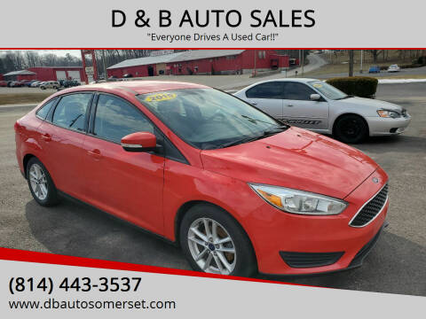 2015 Ford Focus for sale at D & B AUTO SALES in Somerset PA