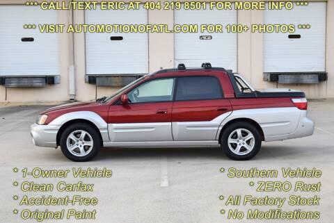 2003 Subaru Baja for sale at Automotion Of Atlanta in Conyers GA