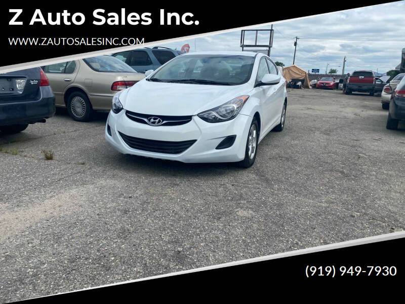 2013 Hyundai Elantra for sale at Z Auto Sales Inc. in Rocky Mount NC