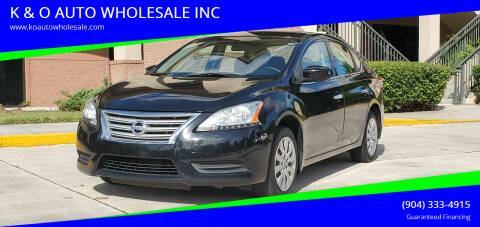 2015 Nissan Sentra for sale at K & O AUTO WHOLESALE INC in Jacksonville FL