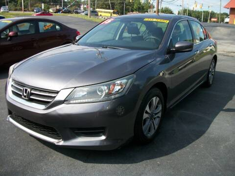 2015 Honda Accord for sale at Lentz's Auto Sales in Albemarle NC