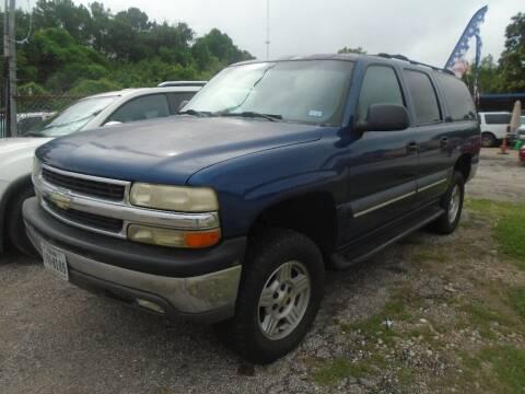 2002 Chevrolet Suburban for sale at SCOTT HARRISON MOTOR CO in Houston TX