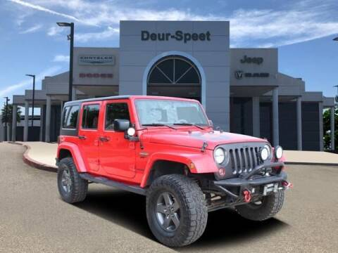 2016 Jeep Wrangler Unlimited for sale at DEUR-SPEET MOTORS in Fremont MI